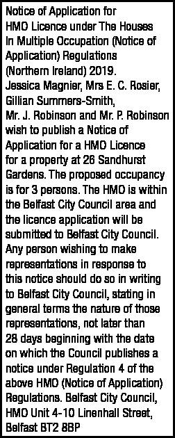 HMO Notice