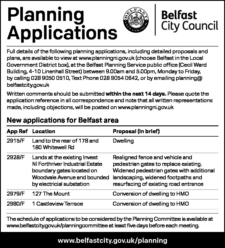 Planning Applications - Belfast City Council