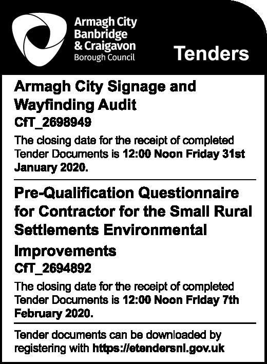 Armagh City, Banbridge & Craigavon - Tenders