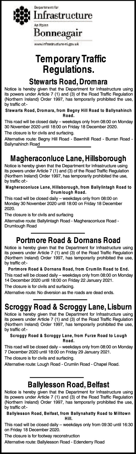 Temporary Traffic Regulations