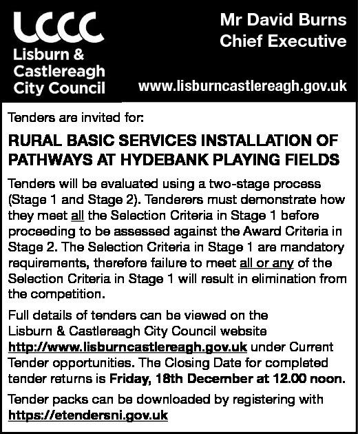 Lisburn & Castlereagh City Council - Tenders