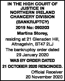 Bankruptcy Notice