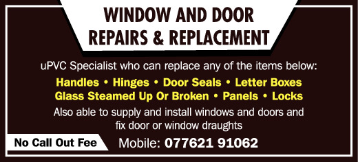 Window and Door Repairs and Replacement