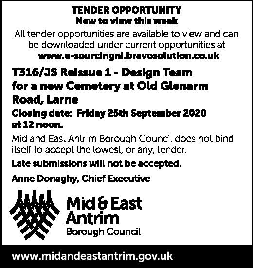 Mid & East Antrim Borough Council - Tender