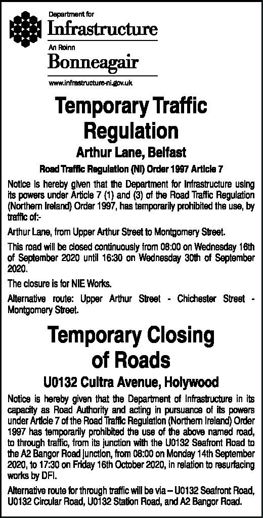 Temporary Traffic Regulations