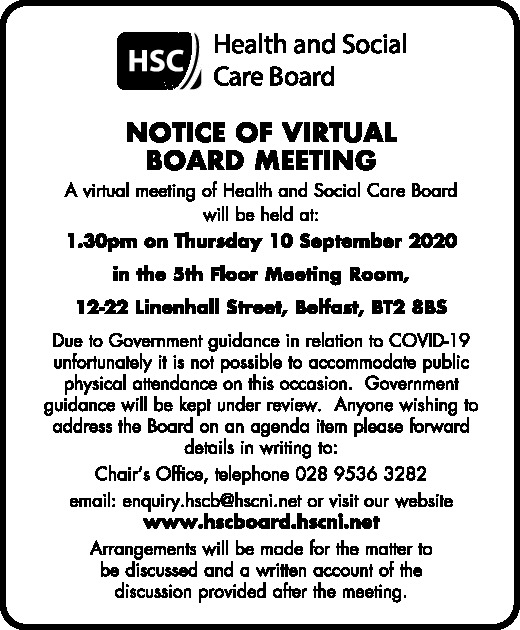 Health and Social Care Board Meeting