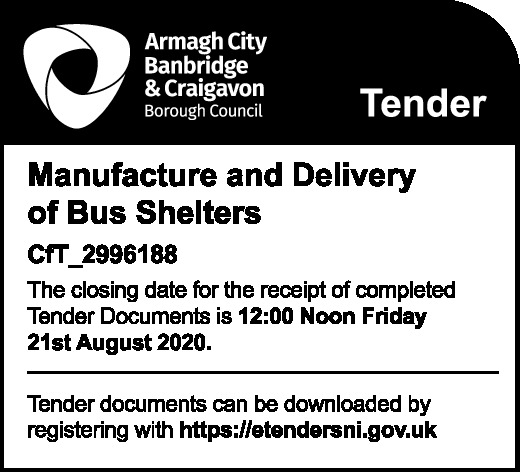 Manufacture and Delivery of Bus Shelters