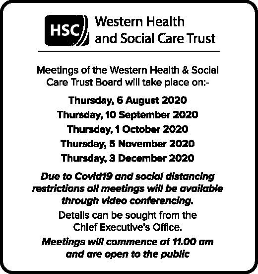 Meetings of the Western Health & Social Care Trust Board