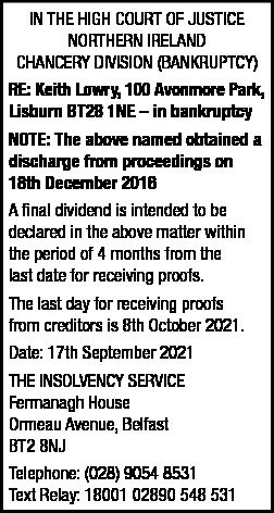 Keith Lowry, Dividend advert