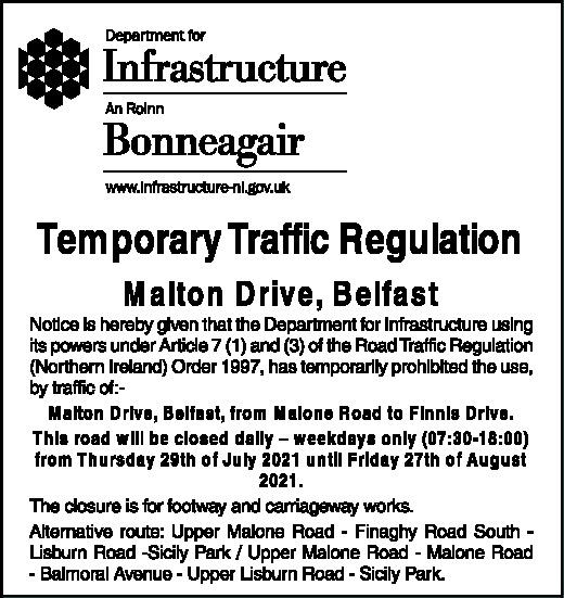 Temporary Traffic Regulation