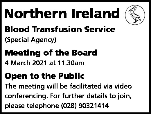Blood Transfusion Service - Board Meeting