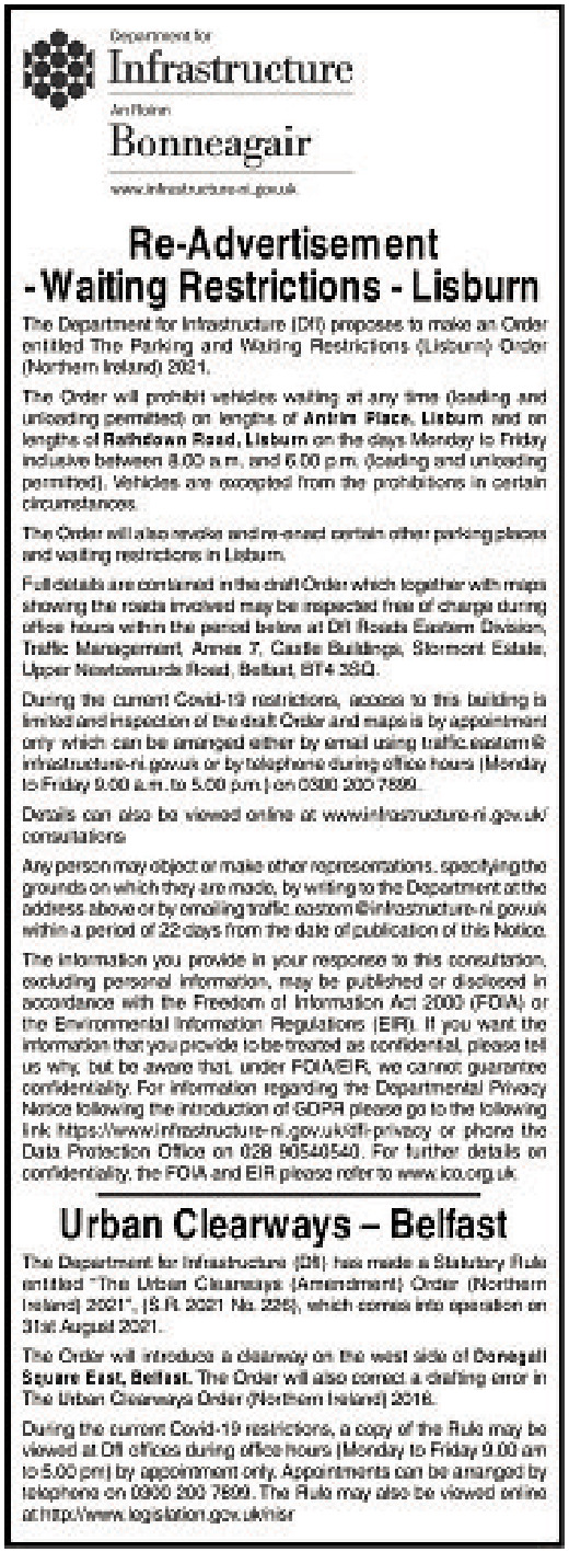Re-advertisement Waiting Restrictions
