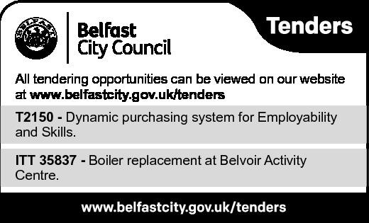 Belfast City Council Tender Notice