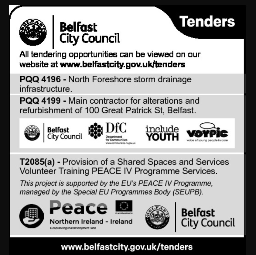 Belfast City Council Tenders