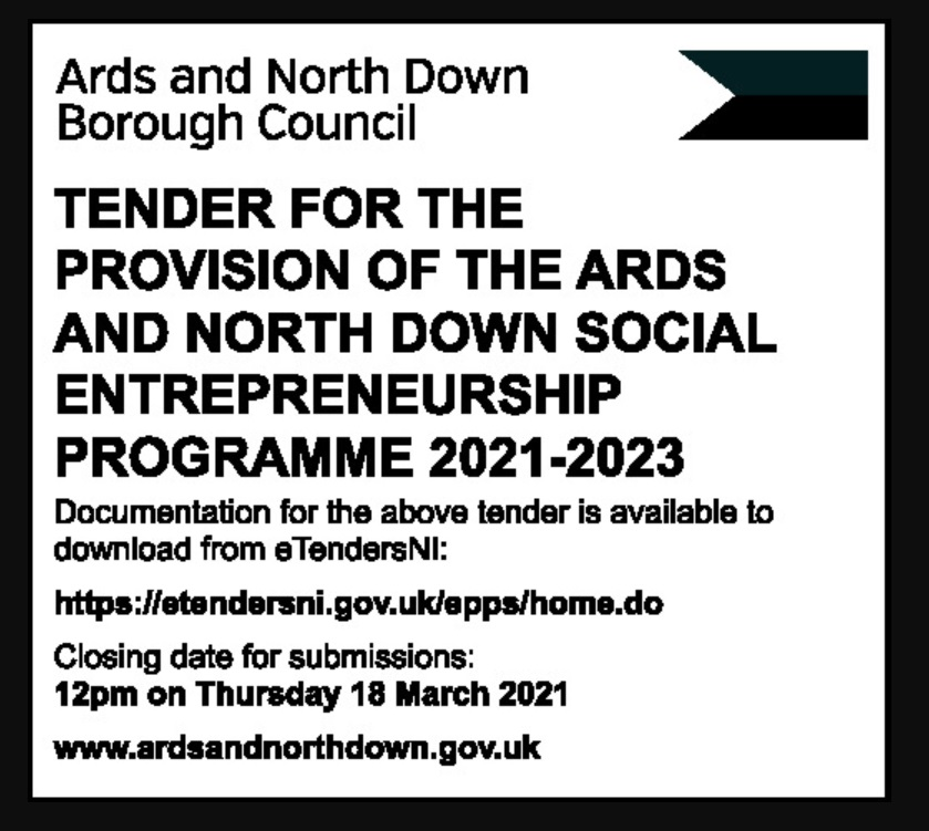 ARDS AND NORTH DOWN SOCIAL ENTREPRENEURSHIP PROGRAMME 2021-2023