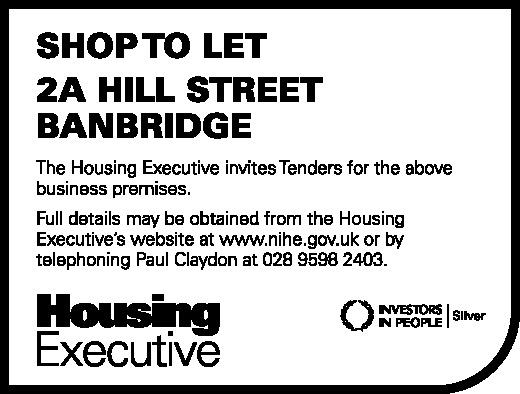 SHOP TO LET BANBRIDGE