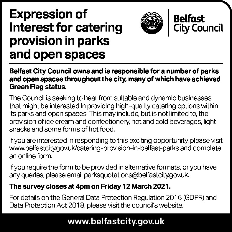 Catering Provision in Parks and Open Spaces