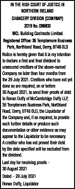 MCL BUILDING CONTRACTS LIMITED