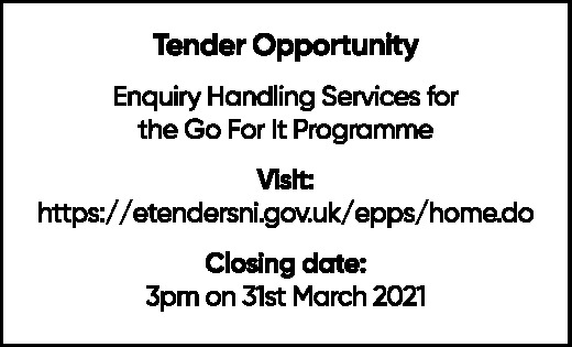 Enquiry Handling Services for the Go For It Programme