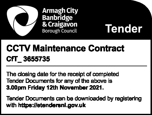 Armagh City, Banbridge & Craigavon Borough Council - Tender