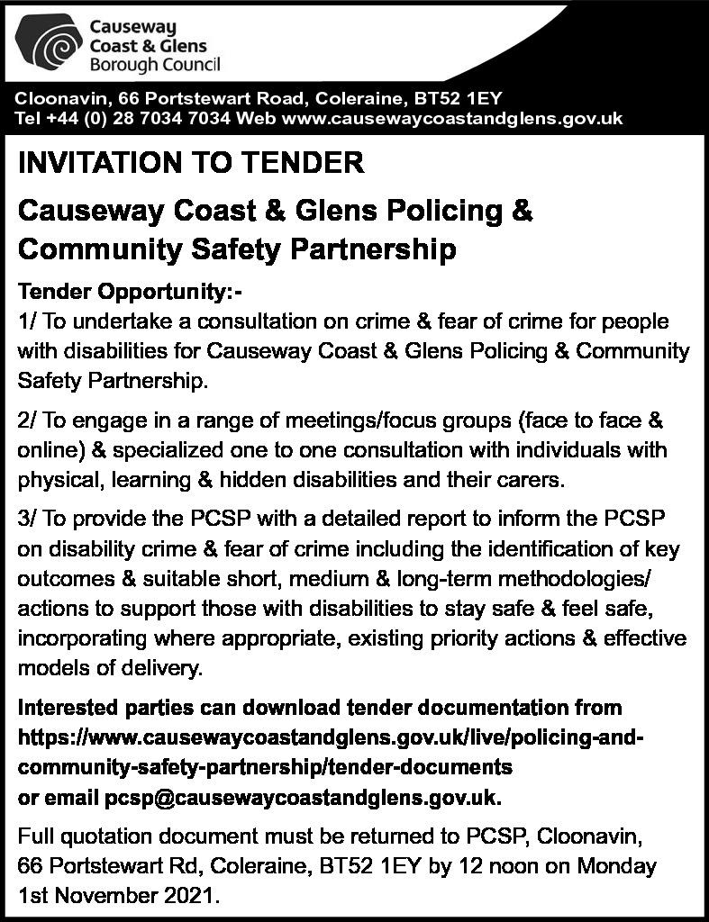 Causeway Coast & Glens Borough Council - Tender