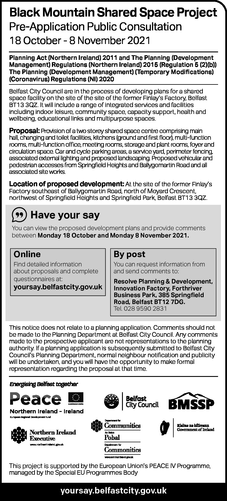 1456 Black Mountain Shared Space consultation